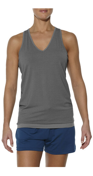 asics fuzeX - Camiseta sin mangas running Mujer - gris